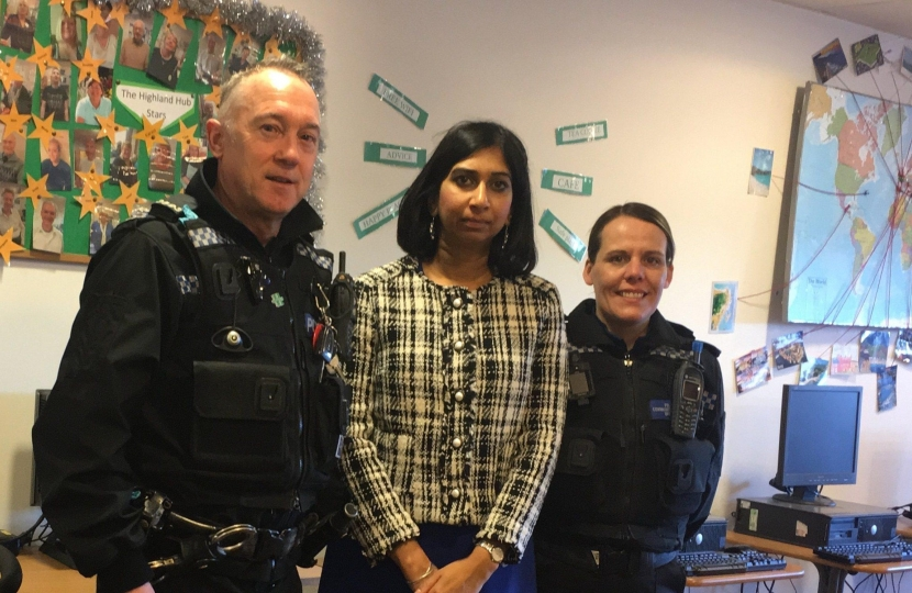 Suella with Hampshire Police
