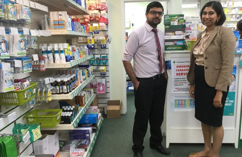 Suella at pharmacy