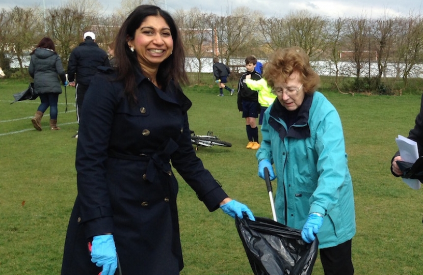 At the Community Clear Up day at Wicor Recreation Ground